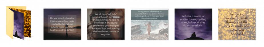 Positive Thinking PLR Social Graphics