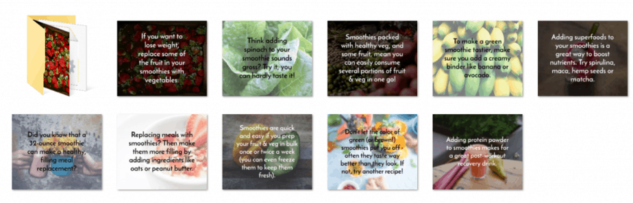 Smoothies and Superfoods PLR Social Images