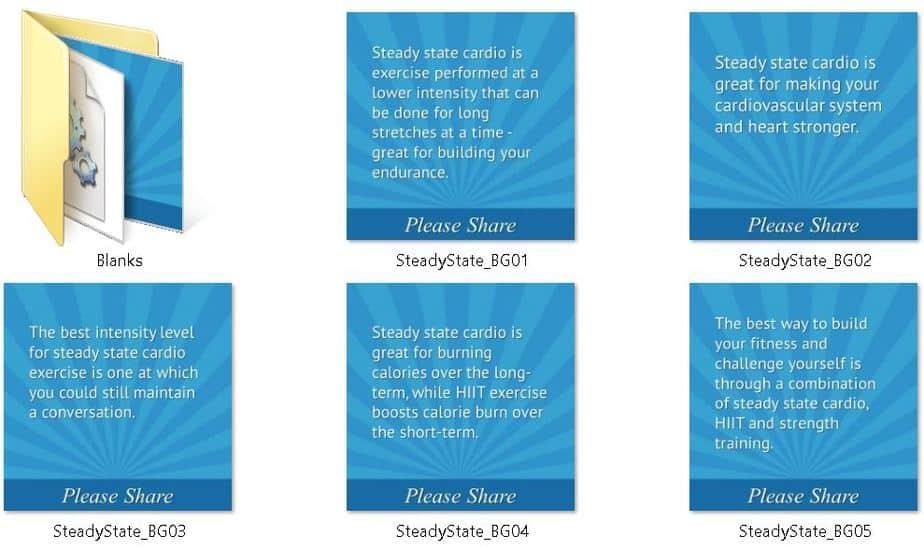 Steady State Cardio Premium Social Media Tips