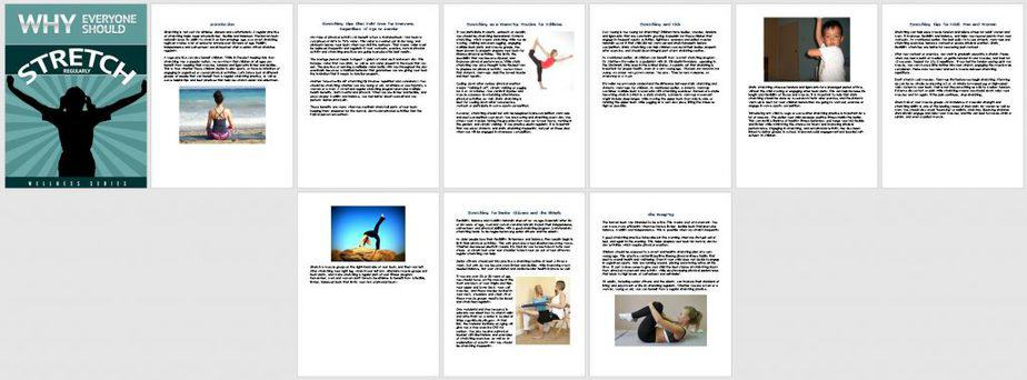 Stretching Premium PLR Report Sneak Preview