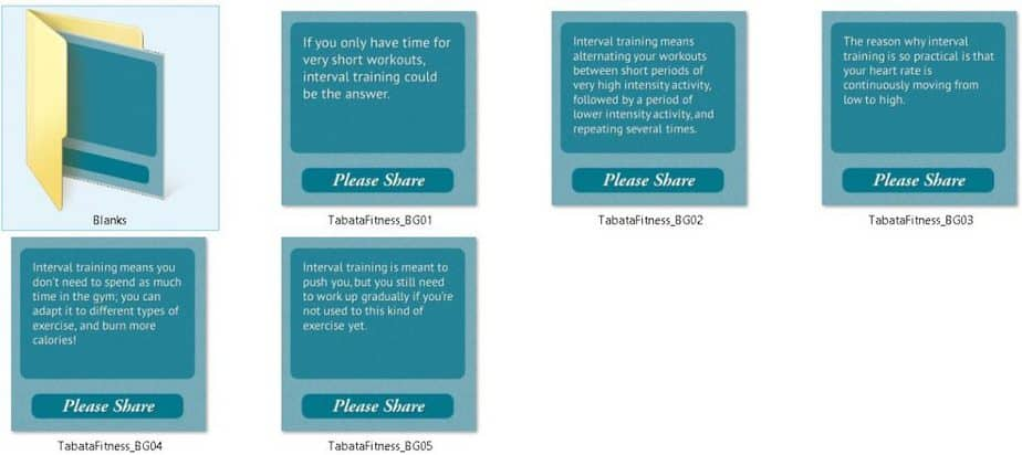 Tabata Premium PLR Social Fitness Tips