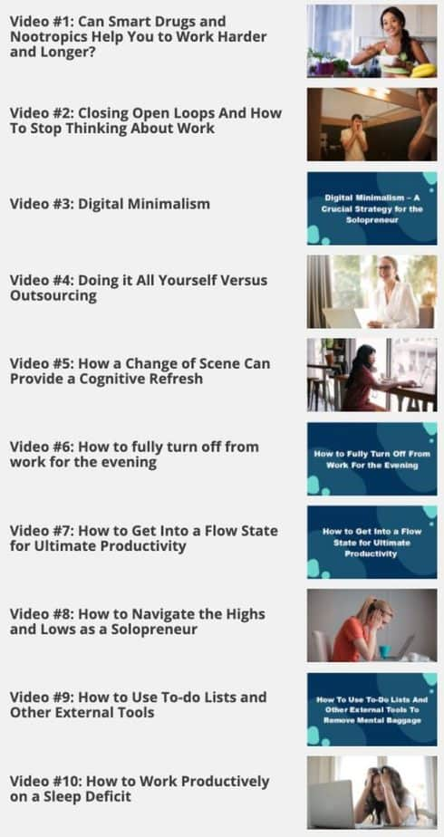 The Productive Solopreneur Videos