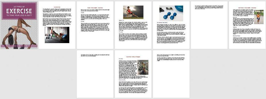 Toned Legs Premium PLR Report Sneak Preview