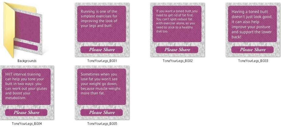 Toned Legs Premium PLR Social Media Tips