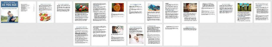 Wellbeing As You Age Premium PLR Ebook Sneak Preview
