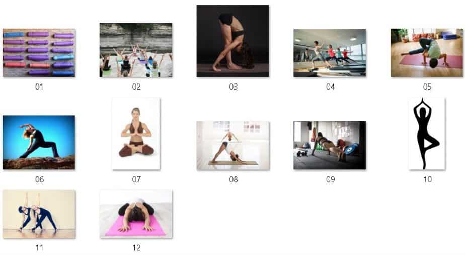 Yoga Fitness Royalty Free Images