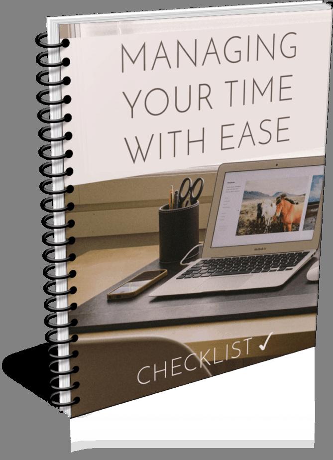 Time Management Premium PLR Checklist