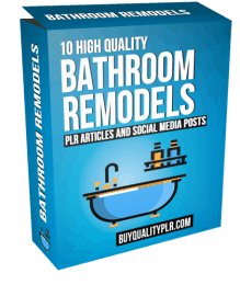 10 High Quality Bathroom Remodels PLR Articles and Social Posts