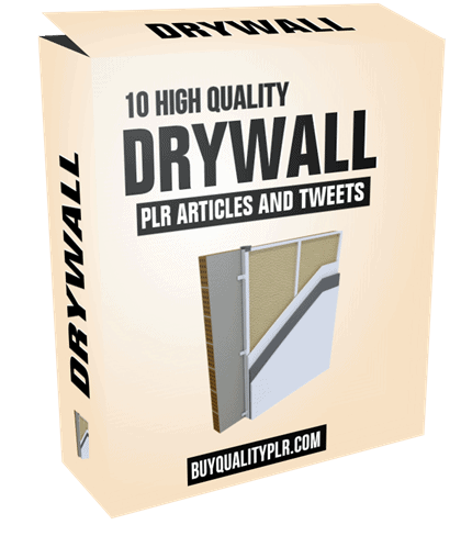 10 High Quality Drywall PLR Articles and Tweets