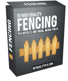 10 High Quality Fencing PLR Articles and Social Media Posts