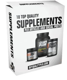 10 Top Quality Supplements PLR Articles and Social Posts