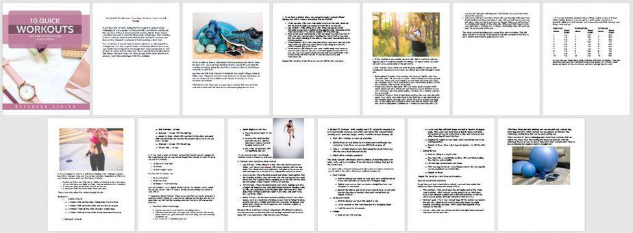 15 Minute Workouts Premium PLR Report Sneak Preview