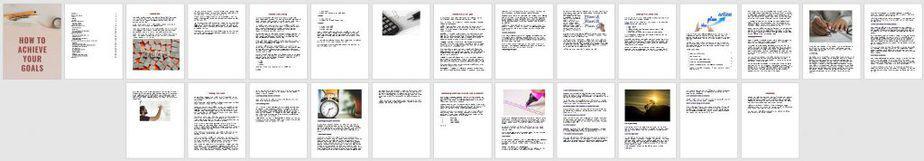 Achieve Your Goals Premium PLR Ebook Sneak Preview