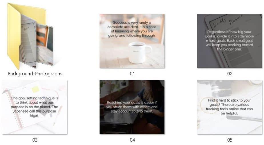 Achieve Your Goals Premium PLR Social Media Graphics