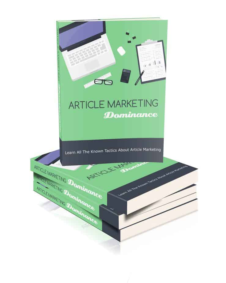 Article Marketing Dominance MRR eBook and Optin Page