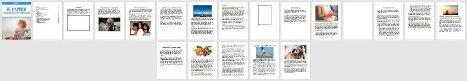 Be Happy Premium PLR Ebook Sneak Preview
