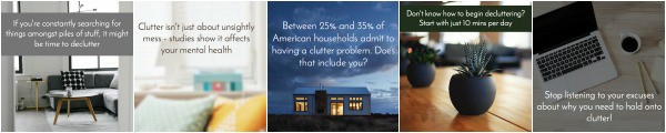 Declutter Your Home Social Graphics