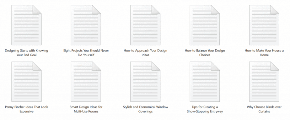 Design Decorating PLR Articles Sample text
