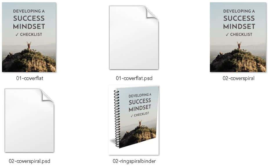 Developing A Success Mindset Premium PLR Ecovers