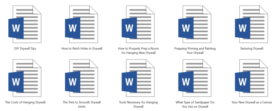 Drywall PLR Articles Sample Doc