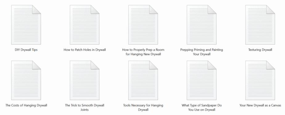 Drywall PLR Articles Sample text