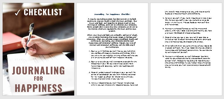 Journaling Premium PLR Checklist Sneak Preview