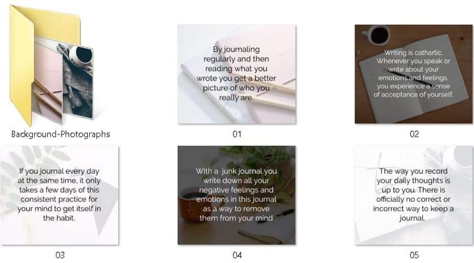 Journaling Premium PLR Social Media Graphics