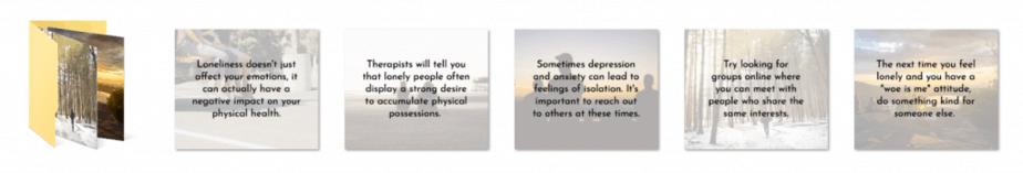 Loneliness PLR Social Graphics