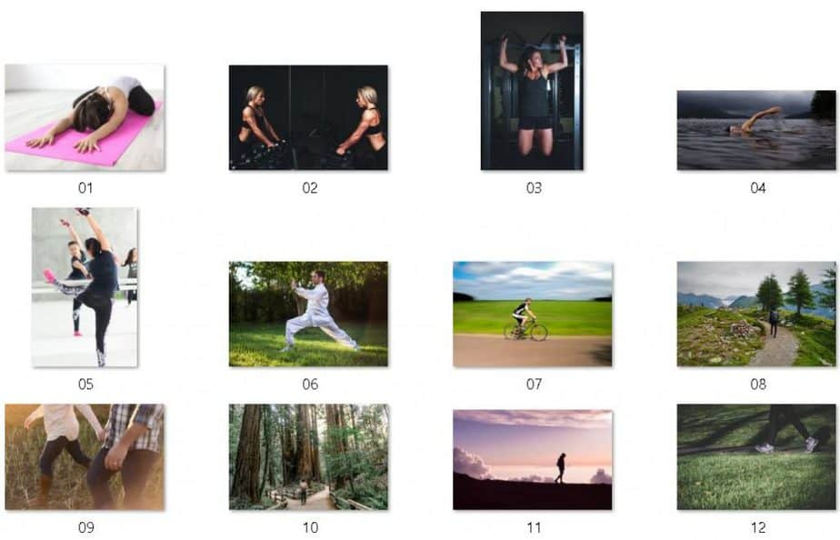 Low Impact Fitness Royalty Free Images