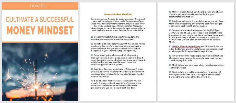 Money Mindset Premium PLR Checklist Sneak Preview