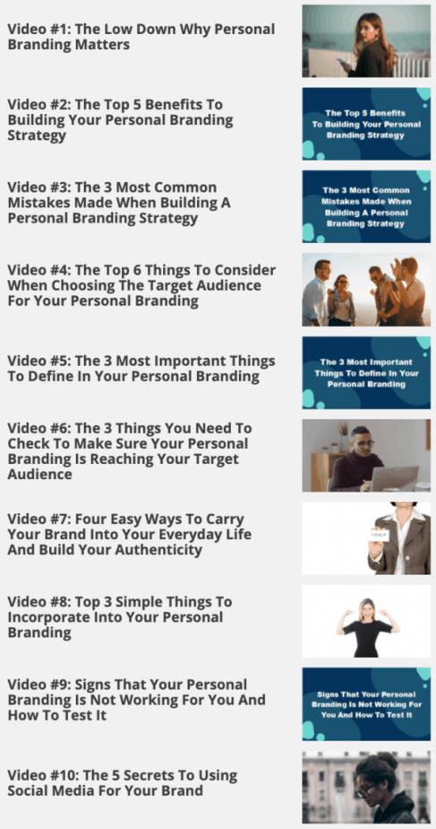 Personal Branding Blueprint Videos
