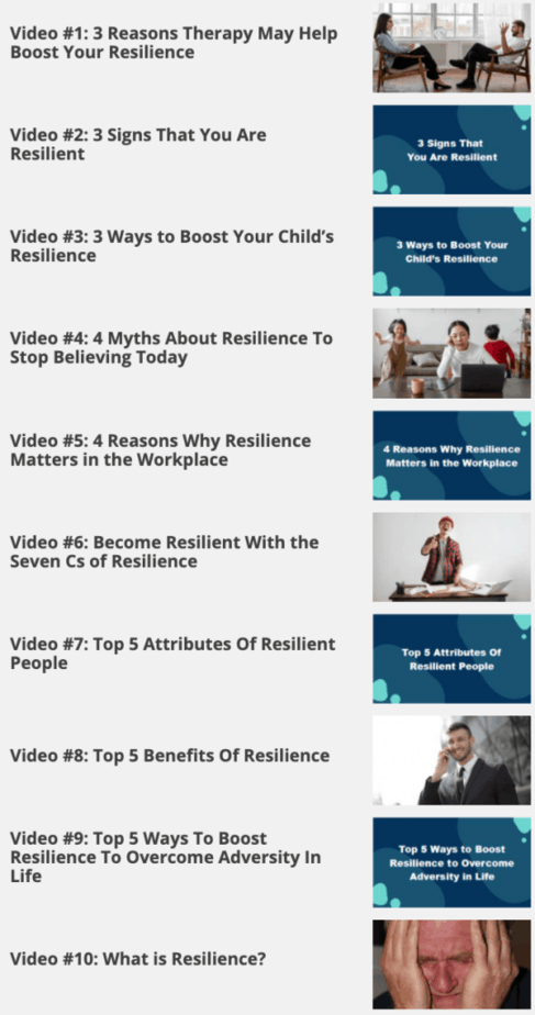Resilience Videos