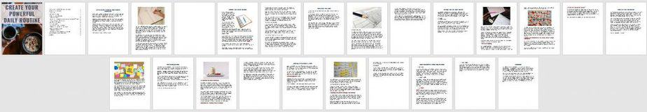 Routines PLR Ebook Sneak Preview