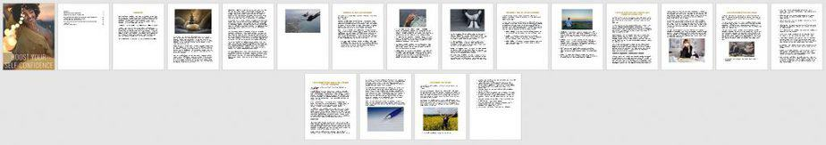 Self Confidence Premium PLR Ebook Sneak Preview