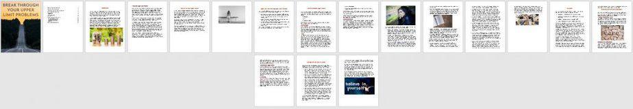Upper Limit Problem Premium PLR Ebook Sneak Preview