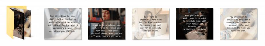 Work Life Balance PLR Social Graphics