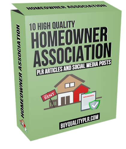 10 High Quality Homeowner Association PLR Articles and Social Media Posts