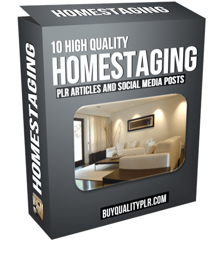 10 High Quality Homestaging PLR Articles and Tweets