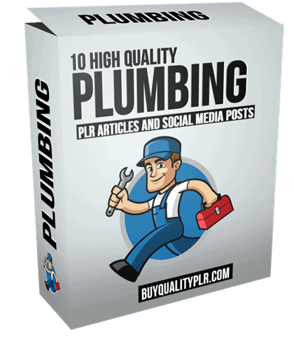 10 High Quality Plumbing PLR Articles and Social Media Posts