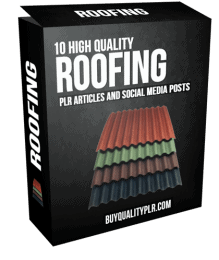 10 High Quality Roofing PLR Articles and Social Media Posts