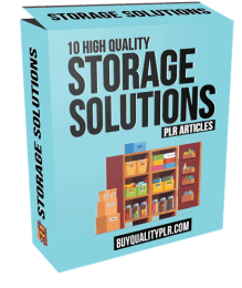 10 High Quality Storage Solutions PLR Articles and Tweets
