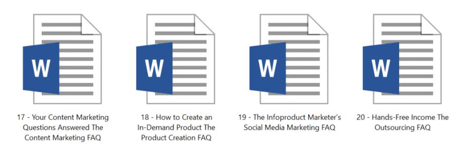 Article Library 20 Premium Internet Marketing Inside Look 3
