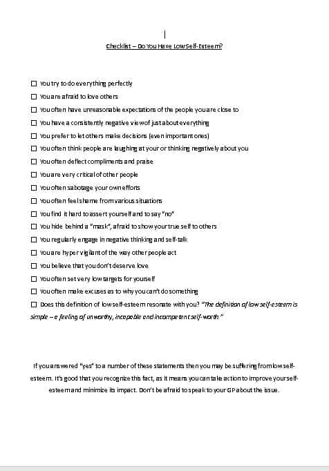 Believe in Yourself Premium PLR Checklist