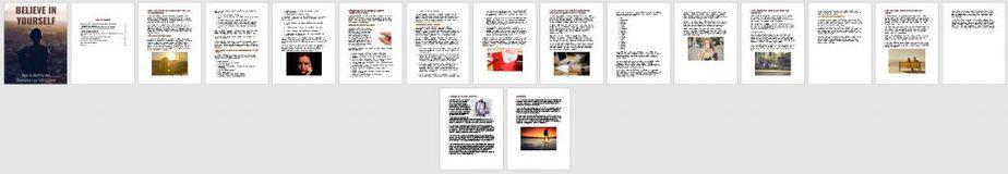 Believe in Yourself Premium PLR Ebook Sneak Preview