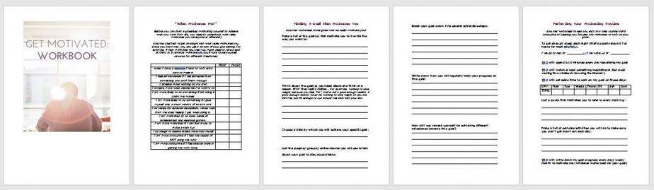 Get Motivated Premium PLR Worksheets