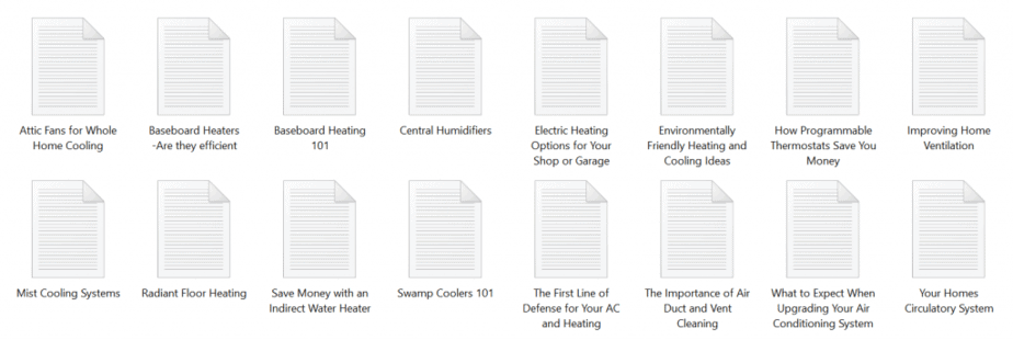 Heating and Cooling PLR Articles Sample text
