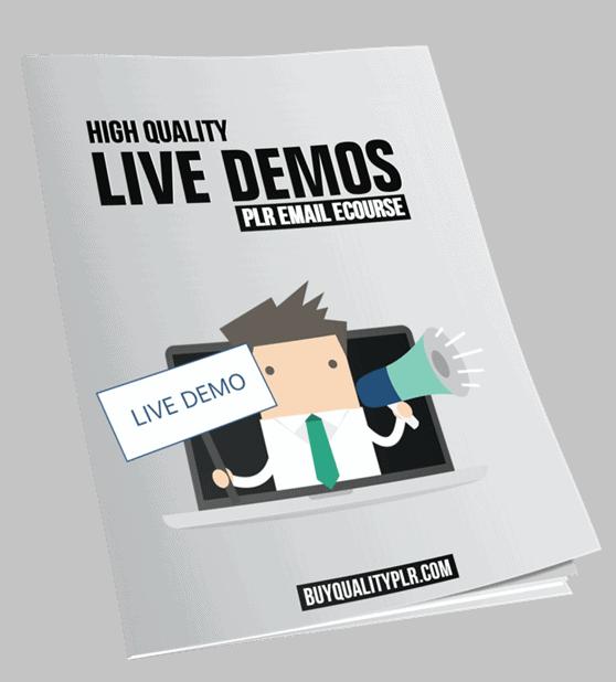 High Quality Live Demos PLR Email eCourse