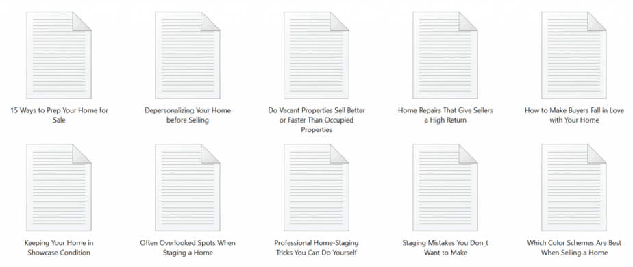 Homestaging PLR Articles Sample text