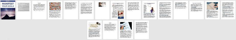Manifest Your Goals Premium PLR Ebook Sneak Preview