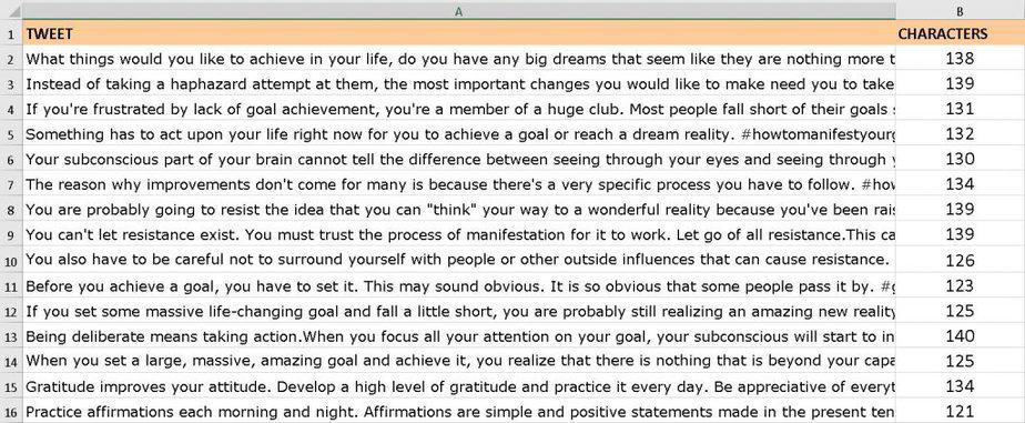 Manifest Your Goals Premium PLR Social Media Tweets